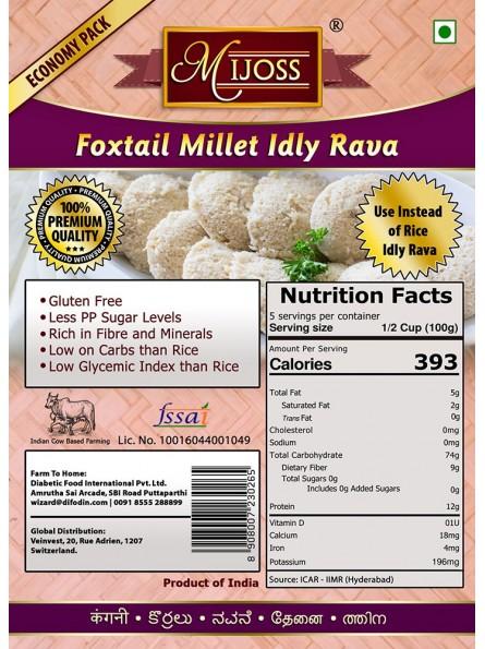 Mijoss - Foxtail Millet Idly Rava