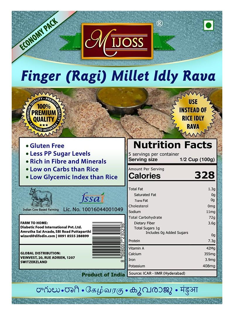 Mijoss - Finger (Ragi) Millet Idly Rava