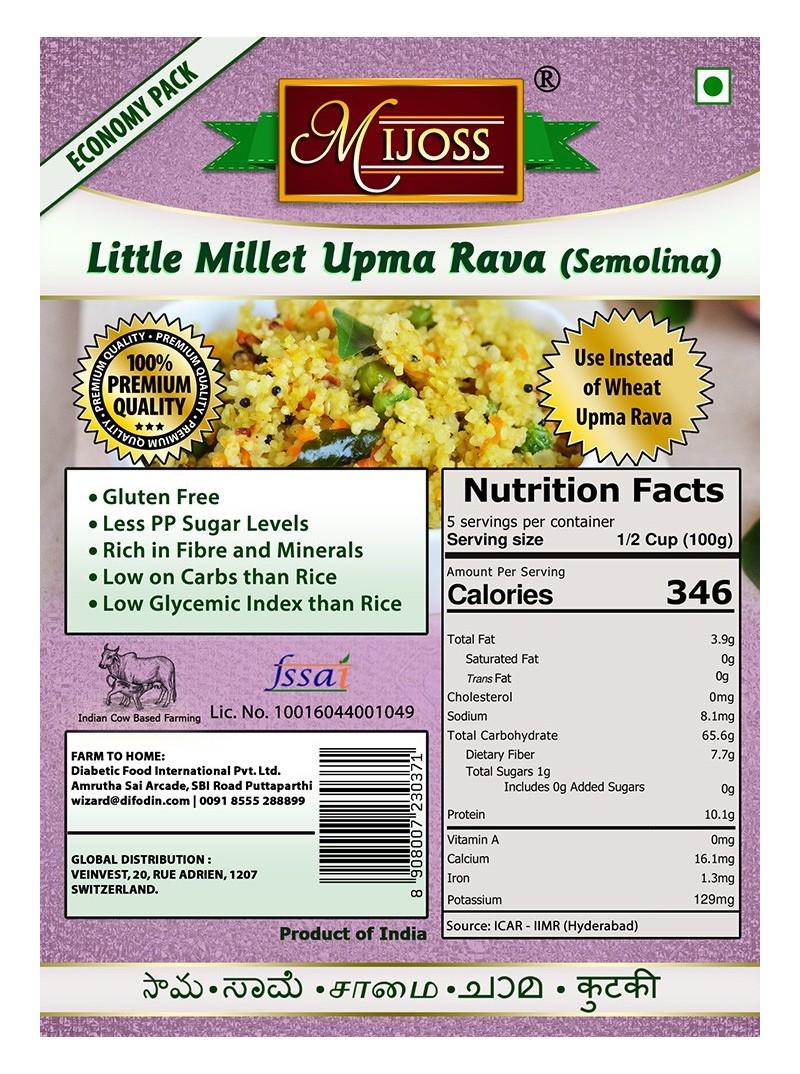 Mijoss - Little Millet Upma Rava (Semolina)