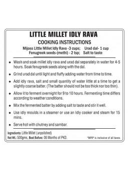 Mijoss - Little Millet Idly Rava