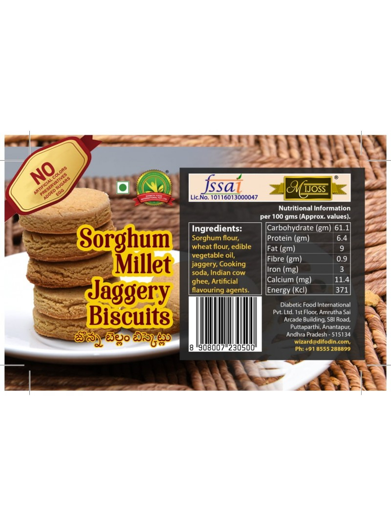 Mijoss Sorghum Millet Jaggery Biscuits